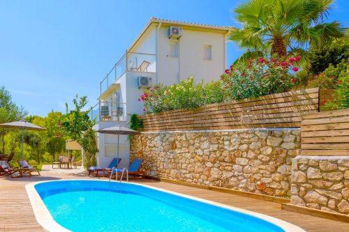 Leuk vakantiehuis Villa Keri View in Griekenland
